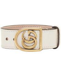 Gucci - White Gg Marmont Bracelet - Lyst