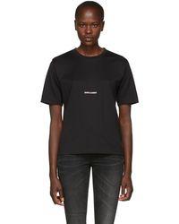 Saint Laurent - Black Classic Logo T-shirt - Lyst