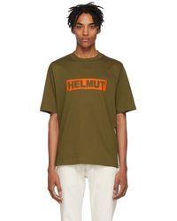 Helmut Lang - Khaki Logo Tall T-shirt - Lyst