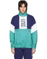 Aimé Leon Dore - Blue Colorblocked Quarter Zip Pullover - Lyst