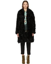 Meteo by Yves Salomon - Black Curly Lamb Fur Coat - Lyst