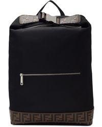 Lyst - Sac a dos noir Karlito Pocket Fendi pour homme en coloris Noir 367da8ba5a8