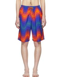 1da4ea6d01 Dries Van Noten - Orange Verner Panton Edition Phibbs Long Swim Shorts -  Lyst