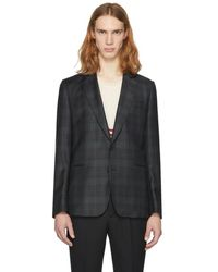 Paul Smith - Ssense Exclusive Green Check Soho Buggy Blazer - Lyst