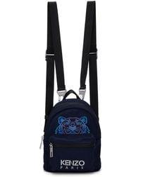 KENZO - Navy Mini Tiger Backpack - Lyst