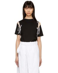 Facetasm - Ssense Exclusive Black And White Tie T-shirt - Lyst