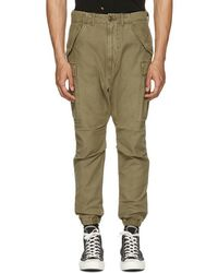 R13 - Green Military Cargo Trousers - Lyst