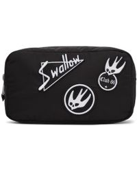 McQ - Black Skater Swallow Badge Wash Pouch - Lyst