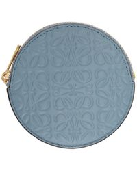 Loewe - Blue Anagram Cookie Zip Coin Pouch - Lyst