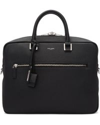 Saint Laurent | Black Sac De Jour Souple Briefcase | Lyst