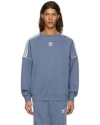 adidas Originals - Grey Pipe Crew Sweatshirt - Lyst