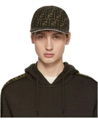 Fendi - Brown And White Forever Cap - Lyst