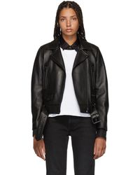 Acne Studios - Black Leather Mock Jacket - Lyst