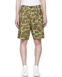 Rag & Bone - Green Camo Field Shorts - Lyst
