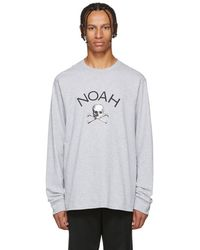 Noah - Grey Jolly Roger Long Sleeve T-shirt - Lyst