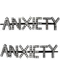 Ashley Williams - Black Anxiety Hair Pins - Lyst
