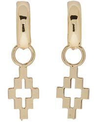 Marcelo Burlon - Gold Cross Pendant Earrings - Lyst
