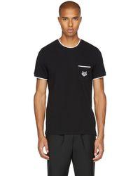 KENZO - Black Pique T-shirt - Lyst