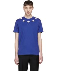 Givenchy - Blue And White Stars T-shirt - Lyst