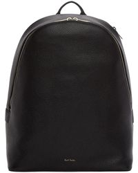 Paul Smith - Black Leather Multistripe Backpack - Lyst