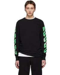 Off-White c/o Virgil Abloh - T-shirt a manches longues noir Diag Arrows exclusif a SSENSE - Lyst