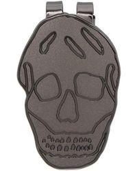 Alexander McQueen - Gunmetal Skull Money Clip - Lyst