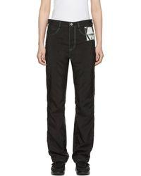KANGHYUK - Black Airbag Straight Jeans - Lyst