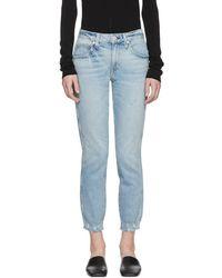 AMO - Blue Stix Cropped Jeans - Lyst
