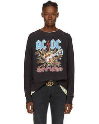 Gucci - Black Ac/dc Logo Sweatshirt - Lyst