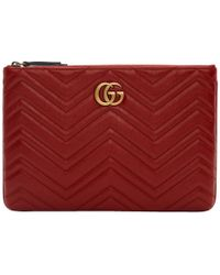 Gucci - Red GG Marmont 2.0 Pouch - Lyst