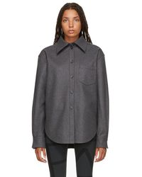 Acne Studios - Grey Wool And Cashmere Flannel Shirt - Lyst