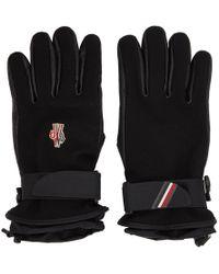 Moncler Grenoble - Black Logo Ski Gloves - Lyst