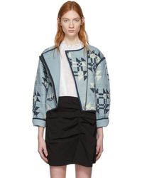 Isabel Marant - Blue Lazel Origami Quilted Jacket - Lyst