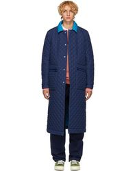 Sunnei - Blue Quilted Coat - Lyst