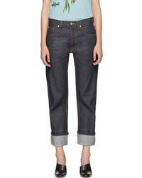 Loewe - Indigo Back Detail Jeans - Lyst
