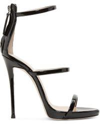 Giuseppe Zanotti - Black Colline Heeled Sandals - Lyst