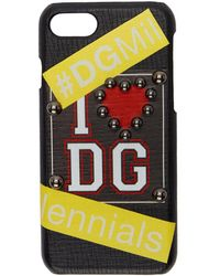 Dolce & Gabbana - Black I <3 Dg Iphone 7 Case - Lyst