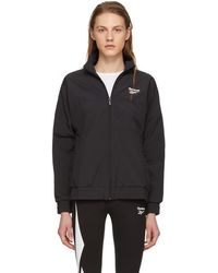 Reebok - Black Lost And Found Vector Jacket - Lyst