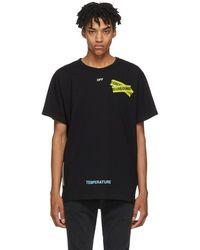 Off-White c/o Virgil Abloh - Black Firetape T-shirt - Lyst