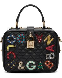 Dolce & Gabbana | Black Quilted Box Bag | Lyst