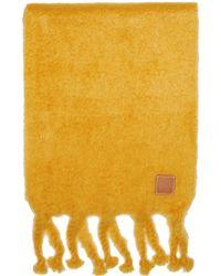 Loewe - Yellow Mohair Fringe Scarf - Lyst