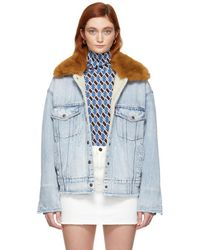 Levi's - Blue Denim Oversized Trucker Jacket - Lyst