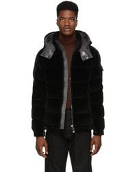 Moncler - Green Velour Down Maya Jacket - Lyst