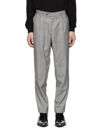 MISBHV - Grey Check Suit Trousers - Lyst