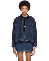 McQ - Blue Denim Laced Jacket - Lyst