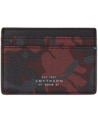 Smythson - Red And Black Camo Burlington Card Holder - Lyst