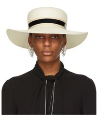 Lanvin - Ivory Straw Capeline Hat - Lyst