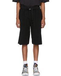 Vetements - Black Oversized Inside-out Sweat Shorts - Lyst