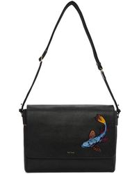Paul Smith - Black Koi Embroidery Messenger Bag - Lyst