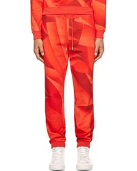 Christopher Kane - Red Page Print Lounge Pants - Lyst